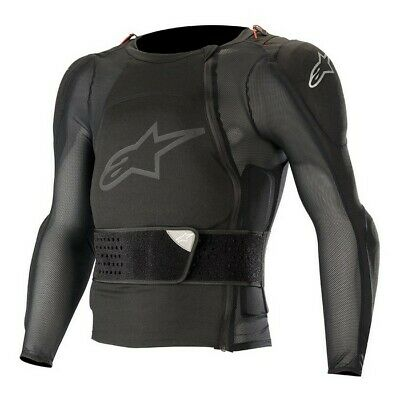 Alpinestars Sequence Off Road Motorcycle MX Protection Jacket  - Black