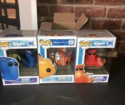 Funko Pop! Disney/Pixar Finding Dory Nemo Dory And Hank Vinyl Figures NIB