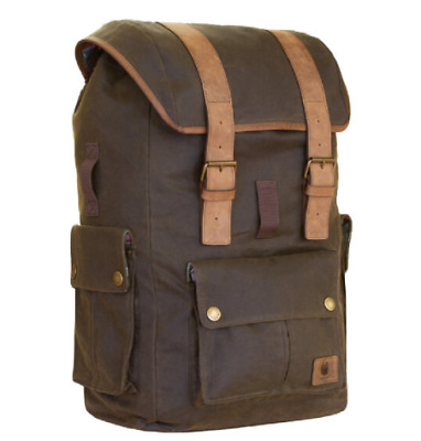 Merlin Ashby Classic Motorcycle Motorbike Luggage Wax Cotton Olive Rucksack