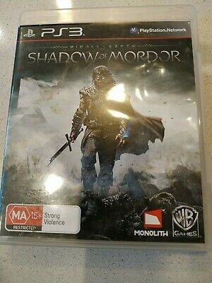 PS3 Middle Earth: Shadow Of Mordor Game and Manuel