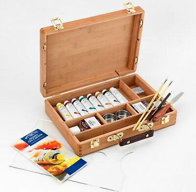 Winsor and Newton Artists Oil Colour Bamboo Box