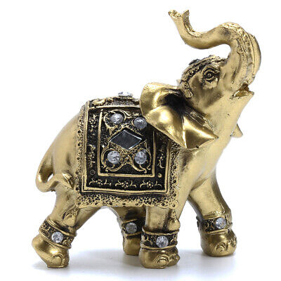 1/2PCS Feng Shui Elegant Elephant Trunk Statue Lucky Wealth Figurine Gift