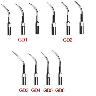 10X Dental Ultrasonic Scaler Scaling Tips GD1-6 Fit DTE Satelec Handpiece 6types