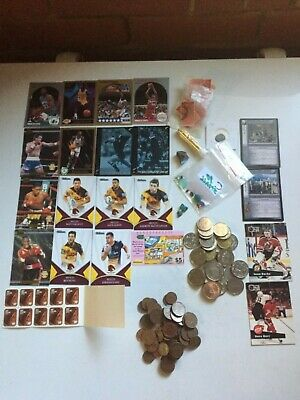 Estate find Collectables Australian rough Opal gems trading cards gold coins