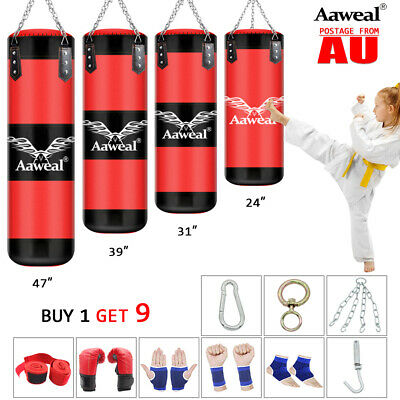 Punching Sandbag Training Martial Heavy MMA Chain Duty Boxing Bag Arts Kicking