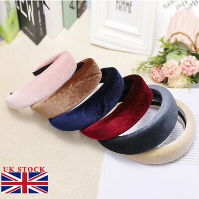 Womens Cute Velvet Headband Alice Band Knot Fashion Boho Headband Twist Hairband