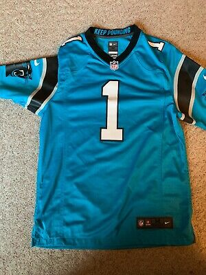 Cam Newton Carolina Panthers Nike On-Field Jersey Black Size Medium