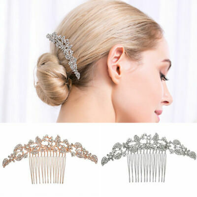 Wedding hair Accessories Crystal Silver Hair Comb vintage Clip  Bridal Bride