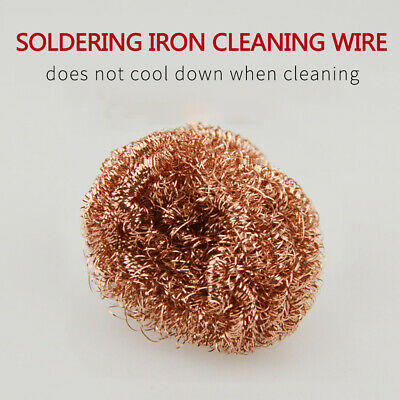 1Pcs Soldering Solder Iron Tip Cleaner Brass Cleaning Wire Sponge Ball H5S7B