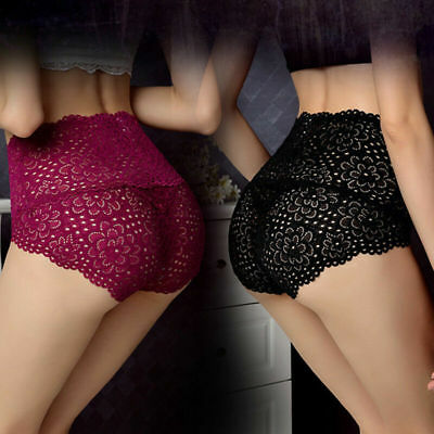 Women Lady Sexy Lace Underwear Boxer Shorts High Waist Panties Briefs Knickers