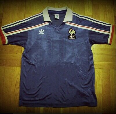 France Adidas Shirt 1986 World Cup Number 10 Platini L Excellent Conditions