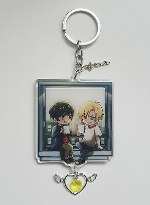 Banana Fish Acrylic Charm Window with glitter by artist Ikeimen