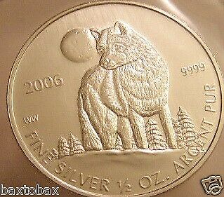 2006 CANADIAN SILVER TIMBER WOLF COIN ~RCM Sealed~ *BU*