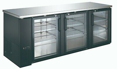 Back Bar Commercial Refrigerator 27 Inches In Depth with Glass Doors Cooler