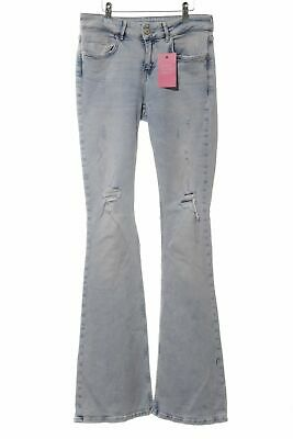 check-out 5d4b2 d4802 ZARA BASIC JEANS a zampa d'elefante blu stile casual Donna Taglia IT 40