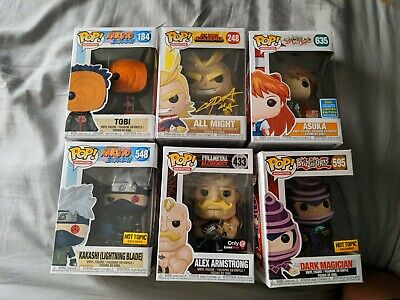 Anime Funko Pop Lot Chris Sabat signed All Might in Pop protector
