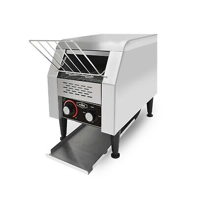 KWS CT-150 Commercial 1300W Electric Stainless Steel Conveyor Toaster