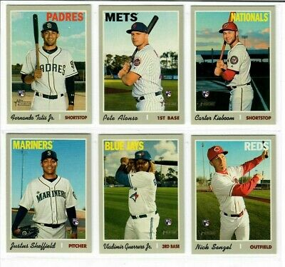 2019 Topps Heritage High Number Base & Short Prints 501-725 Pick Alonso Tatis ++