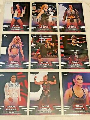 WWE Topps Women's Division 2018 Royal Rumble Inserts (20% off 3+ Cards!)