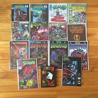 Spawn Image Comic Lot Wildcats Manga Batman Bible Blood Feud Alan Moore