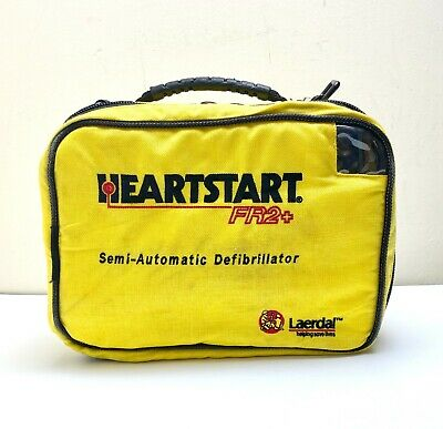 Philips Laerdal Fr2+ Defib Aed Heartstart + New Sealed 2022 Battery 02/2022 Pads