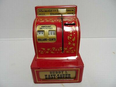 Vintage Buddy L Easy-Saver 3 coin register bank