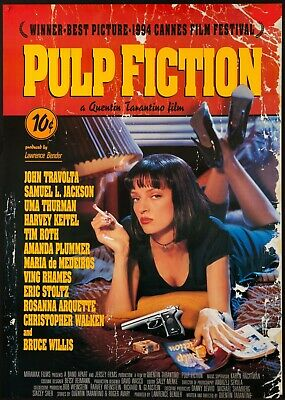 PULP FICTION Movie Poster  Large A3 Size 90s Bedroom Decor Classic Prints Glossy