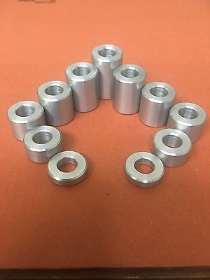 25MM Dia Aluminum Stand Off Spacers Collar Raisers Bushes  40MM Long M14 Hole