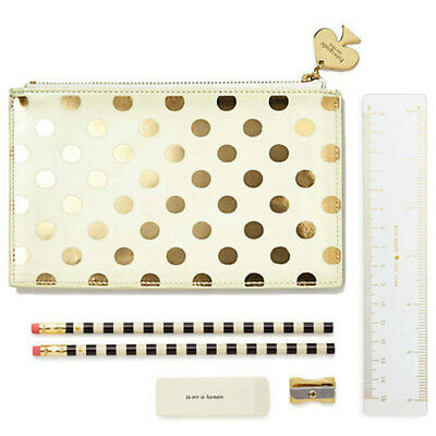 Kate Spade Gold Dots Pencil Pouch Bag Gift