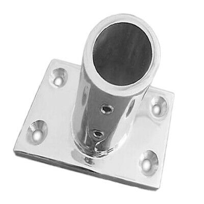 Stainless Steel Boat Hand Rail Fitting Round Stanchion Base FG