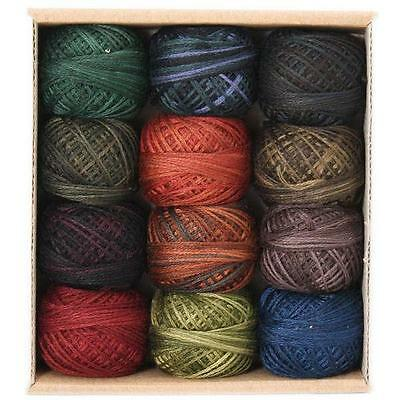 Valdani 3 Strand Cotton Floss Embroidery Punchneedle Thread Country Lights 1 Set
