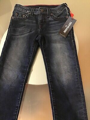 NWT True Religion Girls Casey Core Jeans Midnight Single End Size 6 Authenti N29