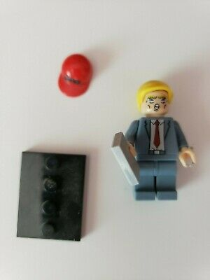 Custom Block Minifigure  Donald Trump, MAGA Make America Great Again
