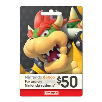 Nintendo $50 eShop Card USD 50 Dollar - Nintendo Switch/3DS/WiiU - USA USER ONLY