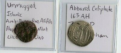 Rare Umayyad & Abbasid Caliphate Silver and Copper Ancient Medieval Islamic Coin