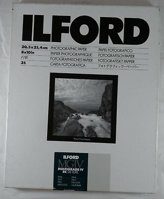Ilford Multigrade IV RC Deluxe Photographic Paper 14 Sheets Pearl Medium Wt 8x10