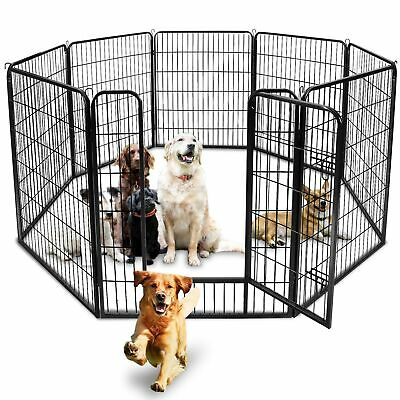 "39""Tall Foldable 8 Panels Metal Pet Dog Puppy Cat Exercise Fence Barrier Playpen"