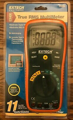 NEW EXTECH EX430 True RMS Digital Multimeter, Auto Ranging 11 Functions NEW