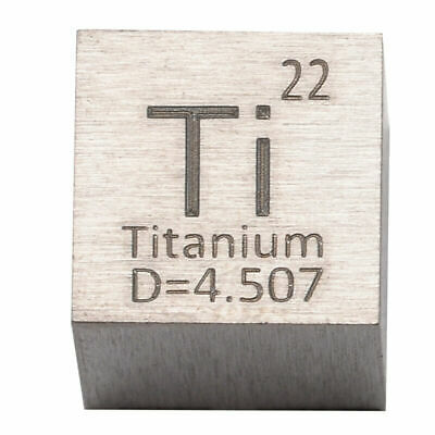 For Element Collection High Purity Titanium Metal 10mm Density Cube 99.95% Pure