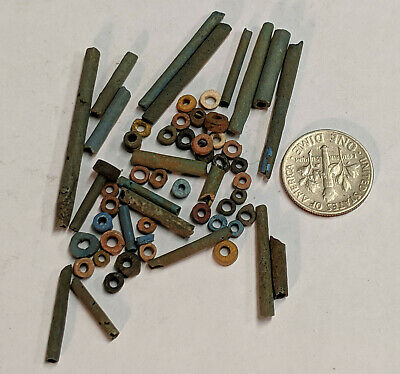 More than Fifty 2500 Year old Ancient Egyptian Faience Mummy Beads (K9299)