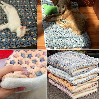 Dog Cat Puppy Pet Plush Blanket Mat Warm Sleeping Soft Bed Blankets Supplies Vy