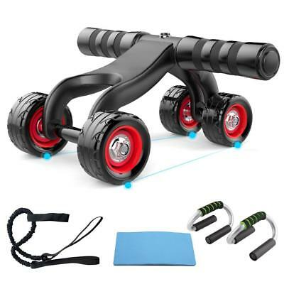 4 Wheel Abdominal Ab Muscle gym home exercise Fitness Roller Training  WT