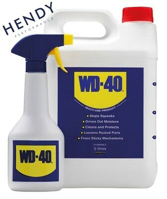 WD40 5 Litre with Applicator Spray Bottle WD40 Multi Purpose Lube 5L container