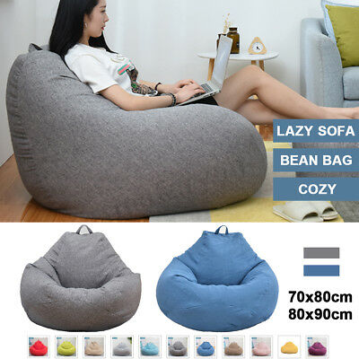 UK Soft Bean Bag Chairs Couch Sofa Lazy Lounger Home Cover Indoor Wash HOT NEW