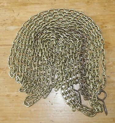 2 X Lengths of Brass Antique Clock Weight Chain - Both of 80in in Length