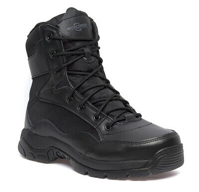"""Mens Leather Tactical Army Military Police Steel Toe Cap Work Combat 8"""" Boots Sz"""