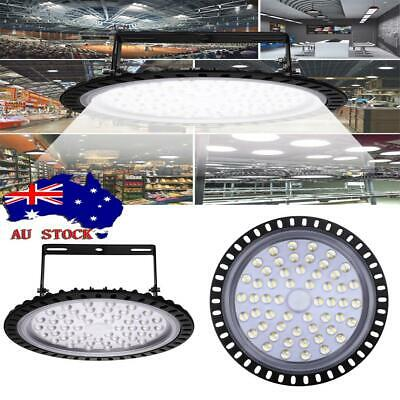 200W UFO LED High Bay Light Lamp Factory Warehouse Gym Industrial Shed AU!