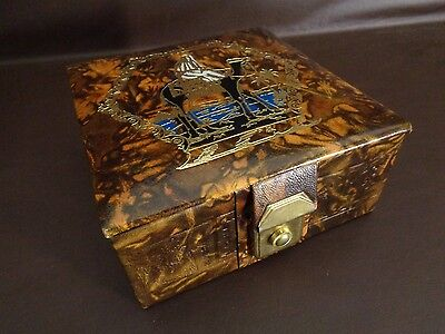 Unique Egyptian Camel Leather Jewelry Box (Cat.#4B020)