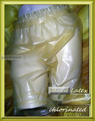 UNIKAT Latex Gummihose FETISSO chloriert LATEX Bloomers LATEX Jogginghose XL