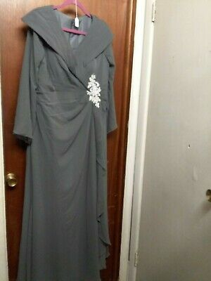 Diyouth NWT Mother of the Bride Gown Dress sz 16 Dark Gray ~ Heavy  #71